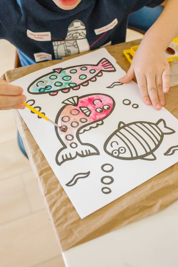 Watercoloring Ideas for Kids
