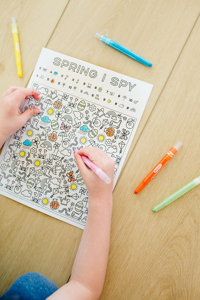 Preschool I Spy Spring Printable