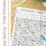 I Spy Spring Free Printable