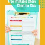 Free Printable Chore Chart for Kids