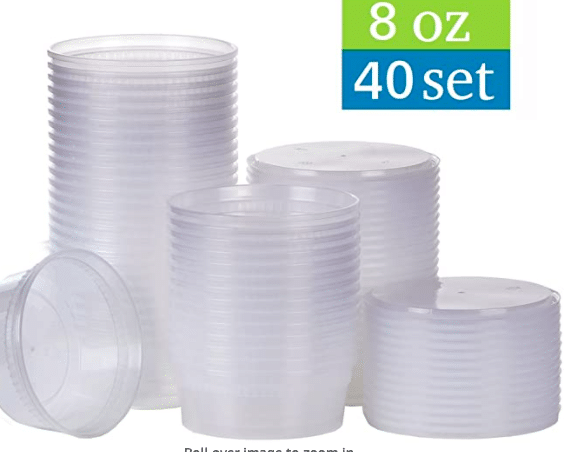 Plastic Containers with Airtight Lids