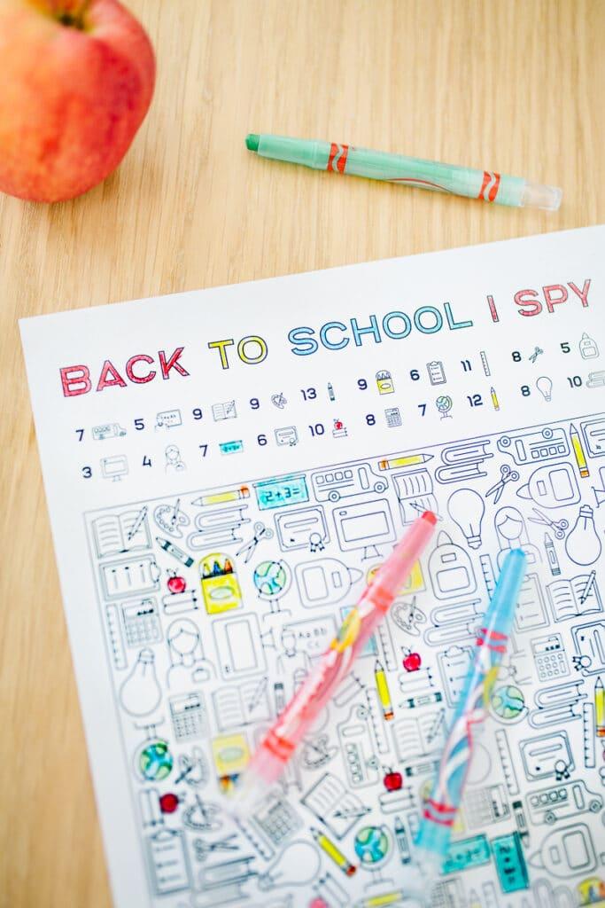 Back to School I Spy