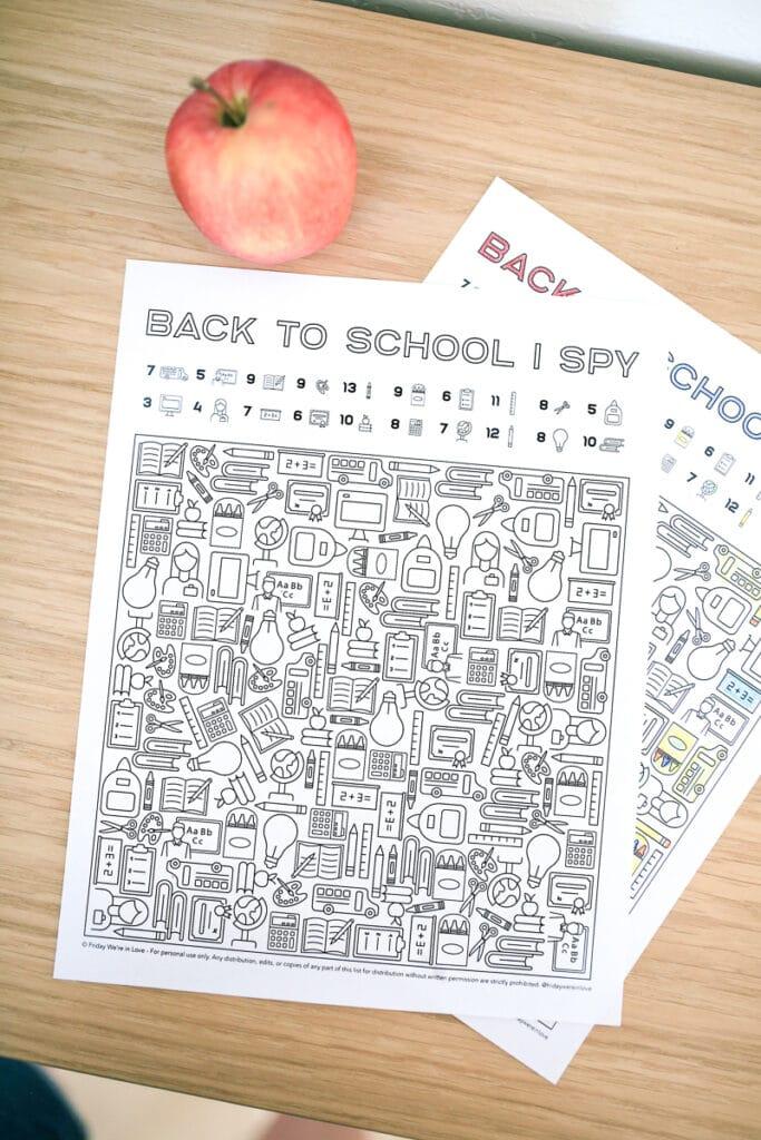 I Spy Back to School