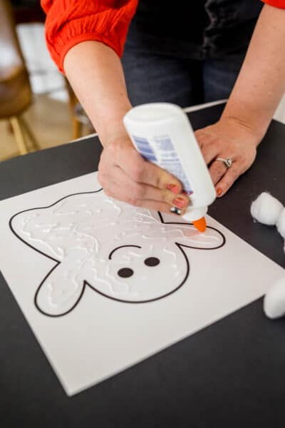 Cotton Ball Ghost Craft with Free Ghost Printable